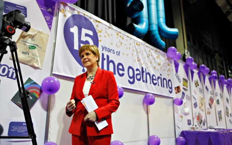 First Minister Nicola Sturgeon at The Gathering 2019