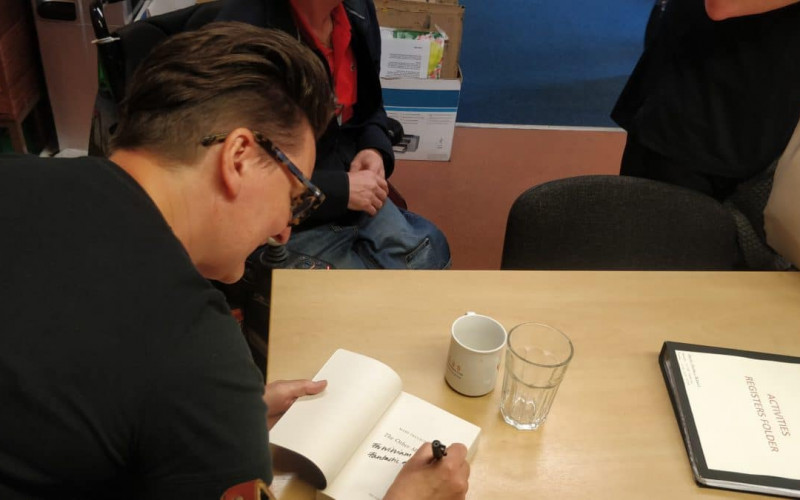 Ecas' Reading and Creative Writing activity enjoys occasional guess sessions from authors